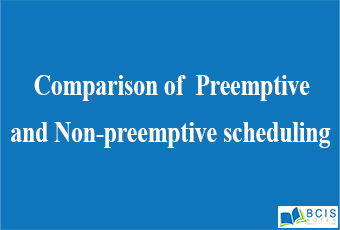 Comparison of Preemptive and Non-preemptive scheduling    Process and Thread Management    Bcis Notes