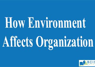 How Environment Affects Organization || The nature of management || Bcis notes