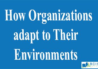 How Organizations adapt to Their Environments || The Nature of Management || Bcis Notes