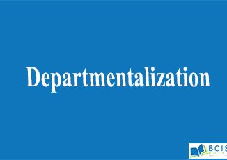 Departmentalization || Organizational Structure And Design || Bcis Notes