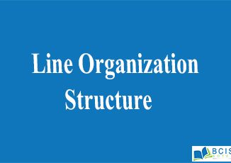 Line Organization Structure || Organizational Structure And Design || Bcis Notes