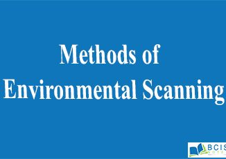 Methods of Environmental Scanning || Planning and Decision Making || Bcis notes