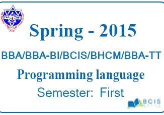 Programming Language Spring 2015