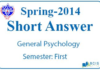 Very Short Questions Spring 2014