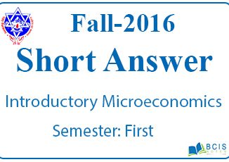 Very Short Questions Fall 2016