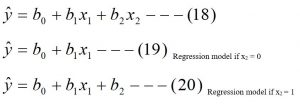 Multiple Regression model including the Dummy Variable