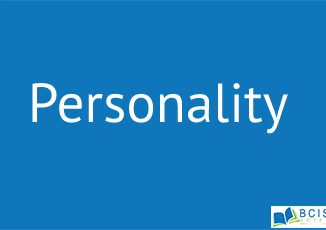 Personality    Perception, Personality and Learning
