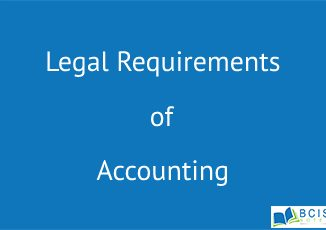 Legal Requirements of Accounting || Basics of Corporate Reporting