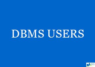 DBMS Users