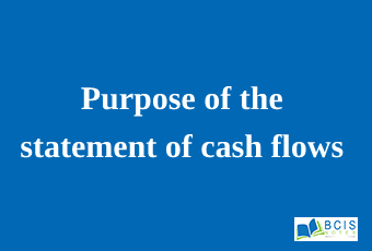 Purpose of the statement of cash flows    Preparation of Financial Statements