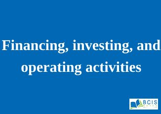 Financing, investing, and operating activities || Preparation of Financial Statements
