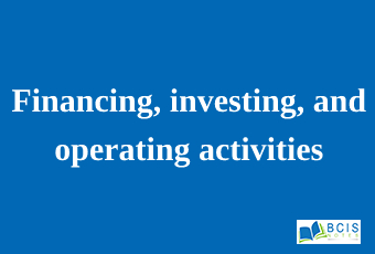 Financing, investing, and operating activities    Preparation of Financial Statements