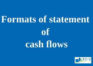 Formats of statement of cash flows || Preparation of Financial Statements