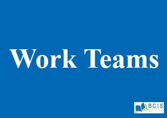 Work Teams    Group Dynamics and Team Development    OB