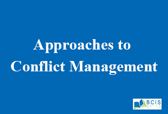 Approaches to Conflict Management