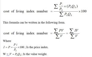 Cost of living Index Number
