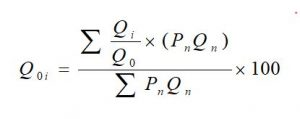 Weighted average of relative quantity index number