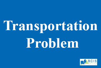 Transportation Problem, Data Analysis and Modeling || Bcis Notes