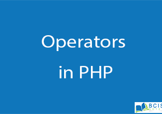 Operators in PHP || Server Side Scripting || BCIS Notes