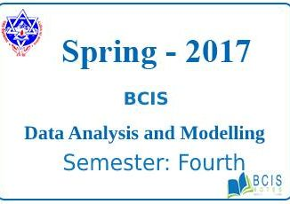 Data Analysis and Modelling