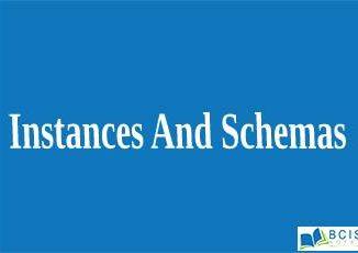 Instances And Schemas