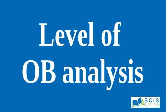 Level of OB analysis