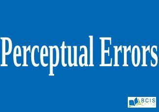 Perceptual errors