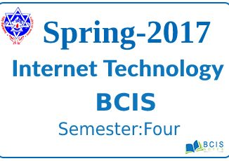 Spring 2017 Internet Technology