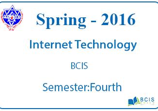 Internet Technology (Web Programming) || Spring,2016 || Pokhara University || BCIS