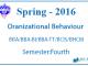 Organizational Behaviour || Pokhara University || Spring,2016 || BBA/BBA-BI/BBA-TT/BCIS/BHCM