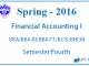 Financial Accounting I    Spring, 2016    Pokhara University    BBA/BBA-BI/BBA-TT/BCIS/BHCM