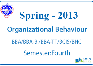 Fundamental of Organizational Behaviour,BBA/BBA-BI/BBA-TT/BCIS/BHC