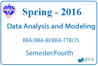 Data Analysis and Modeling || Spring, 2016 || Pokhara University || BBA/BBA-BI/BBA-TT/BCIS