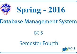 Database Management System    Spring,2016    Pokhara University    BCIS