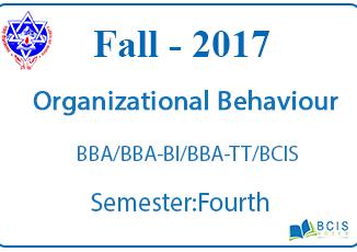 Fundamentals of Organizational Behaviour    Fall,2017    Pokhara University    BBA/BBA-BI/BBA-TT/BCIS/BHCM
