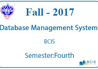 Database Management System || Fall, 2017 || Pokhara University || BCIS