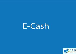 E-cash || Electronic Payment || BCIS Notes