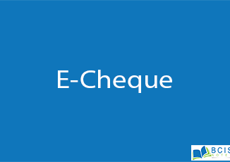 E-Cheque || Electronic Payment || BCIS Notes