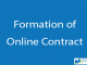 Formation of Online Contract    Legal Issues    BCIS Notes