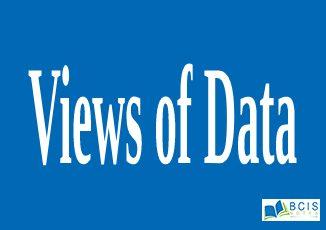 Views of Data