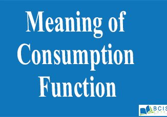Meaning of Consumption Function || Consumption Function and Saving Function || Bcis Notes