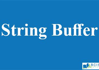 String Buffer || Java Collections And Java API Library || Bcis Notes
