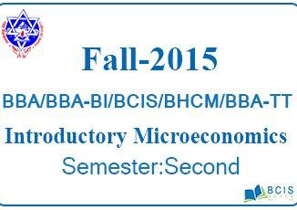 Fall 2015 Macroeconomics