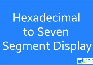 hexadecimal to seven segment Display