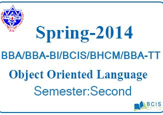 2014 Spring Object Oriented Language