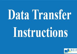 Data Transfer Instructions || 8085 Microprocessor || Bcis Notes