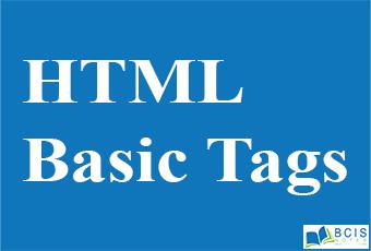 HTML Basic Tag    Bcis Notes