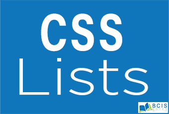 CSS Lists || Bcis Notes