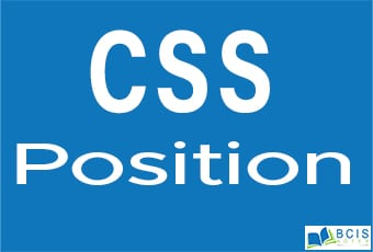 CSS Position || Bcis Notes