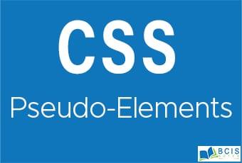 CSS Pseudo-elements || Bcis Notes